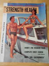 STRENGTH & HEALTH bodybuilding muscle magazine/BILL STATHES 8-61