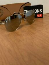 Ray-Ban Aviator Sunglasses RB3025 58mm Silver Frame Silver Mirror Lens W3277