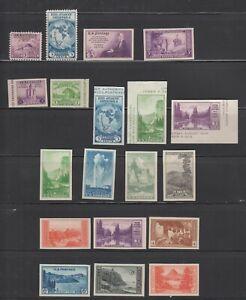 US,752-55,756-65,766-770,MNH ,VF,COMPLETE SET FARLEY 1935 NATIONAL PARKS,MINT NH