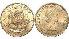 GREAT BRITAIN Half (1/2) Penny, 1966, Elizabeth II, UK, World Coin