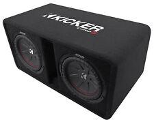 """Kicker 43DCWR102 COMPR10 Dual 10"""" 1600W Car Subwoofers+Vented Sub Box Enclosure"""