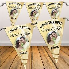 Personalised Congratulations Wedding Engagement Flag Banner Bunting N8 Decor