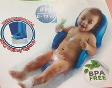 PINK BABY BATH SEAT CHAIR SUPPORT NEWBORN SAFE GRIP PLAYTIME BATHING SAFETY