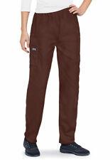 Cherokee Workwear Ladies Scrub Pants Elastic Waistband chocolate brown Xs Nwt