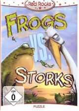 Frogs vs Storks -lustiges PC Game, CD-ROM Red Rocks NIP