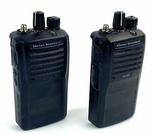Lot of 2 Vertex Standard Vx-261-G7-5 UHF 450-512 MHz 16 Ch Radios- RADIOS ONLY
