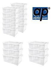 Schuhboxen Set mit Deckel stapelbar Aufbewahrungsbox Kunststoffbox transparent