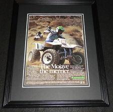 1987 Kawasaki Mojave 250 Framed 11x14 ORIGINAL Advertisement
