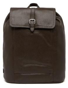 New with Tag - $398 Cole Haan Pebble Leather Flap Drawstring Java Men's Backpack