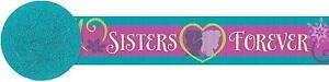 DISNEY FROZEN PARTY Crepe Paper Sisters Forever Banner Decoration 9m long x 1