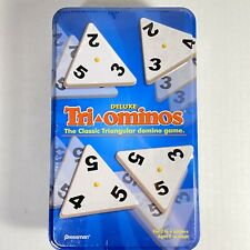 Pressman Deluxe Tri-Ominos Classic Triangular Domino Game-- NEW AND SEALED!