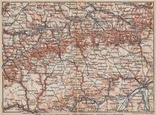 SCHWÄBISCHE ALB. Swabian Jura topo-map. Ulm Rottenburg Gmünd Kirchheim 1895