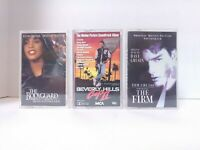 3 Cassette Tape Soundtracks - The Bodyguard, Firm & Beverly Hills Cop II