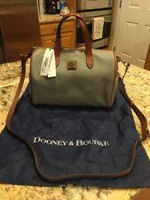 Dooney & Bourke Grey Pebble Leather Purse Handbag Olivia Satchel EUC Dust Bag