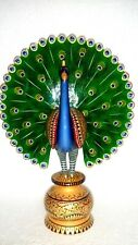 Wooden Dancing Peacock Sculptures & Figurines hand painted 5 inch free shipping