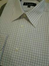 d7e63ee9 NWT Nicole Miller dress shirt white purple lavender check 15.5 32/33