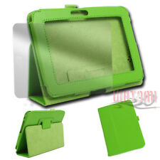 CASE COVER+SCREEN PROTECTOR FOLD PU LEATHER GREEN AMAZON KINDLE FIRE HD 7 TABLET