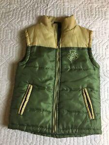 Akademiks Green Vest Coat Puffy Zip Up Insulated Kids Size 6 Sleeveless