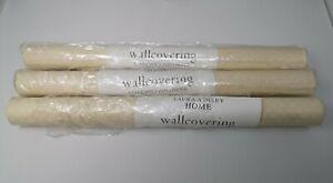 Laura Ashley Wallpaper Standard Wallcovering Three (3) Rolls Same Batch NEW
