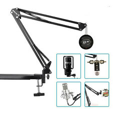 Microphone Desk Arm Stand Mount Boom Scissor Mic Holder For Blue Snowball iCE