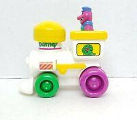 Vintage 1994 Barney Purple Dinosaur Push & Go Roll Train Toy