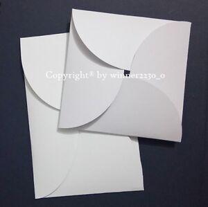 Premium WHITE SQUARE or RECTANGLE Petal Invitation Envelope Pocket Pochette 250G