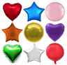 "18"" Heart Star Round Solid Colour Foil Helium Balloon Birthday Wedding Party"