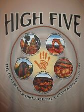 "Badger Sport ""High Five"" Hikes of Colorado Short Sleeve Crew Neck Shirt~L~NWOT"
