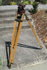 Antique Professional Junior Commercial Camera Equipment Wood Tripod Movie