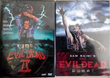 The Evil Dead 1 & 2 (DVD) Bruce Campbell, Sam Raimi, Classic Horror Gore Comedy