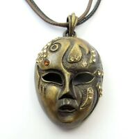 Exquisite Copper Coated Crystal Beauty Face-mask Pendant