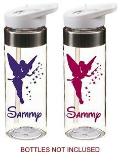 personalised tinkerbell DISNEY name stickers school drinks bottle kids school