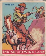 """FOILED  - 1947 GOUDEY """"indian series"""" INDIAN GUM trading card"""