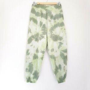 Topshop Green Tie Dye Joggers Jogging Bottoms Size M 12-14 Petite