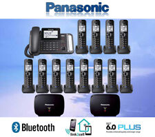 PANASONIC KX-TG9582B 2-LINE LINK2CELL 1 CORDED PHONE 12 CORDLESS 2 REPEATERS