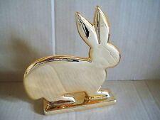 Deko-Figur Hase Shine Keramik Kupferfarben