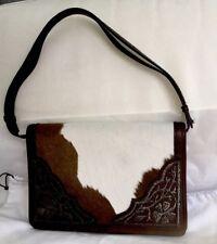Vintage Moschino Brown And White Horse Hair Handbag