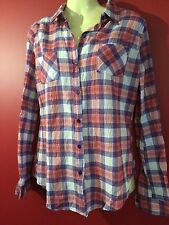 ZAC & RACHEL Women's Red Plaid Long Sleeved Button Up Shirt - Size Small - NWT