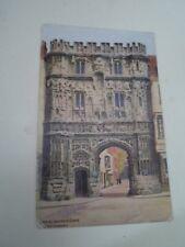 A R QUINTON Postcard 2717 CHRISTCHURCHGATE, CANTERBURY  Franked 1924 §A2899