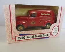 Ertl Bank 1:25 1950 Panel Truck Die Cast Metal Coin Bank Budweiser 1992 USA
