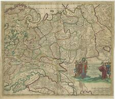 Antique Map of Russia by Danckerts (c.1680)