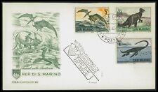 SAN MARINO FDC 1965 DINOSAURS DINOSAUR DINOSAURI IGUANODON ELSAMOSAURUS bk82