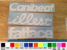 3 pack Canibeat illest C fatlace VINYL STICKER DECAL jdm ill stance slammed