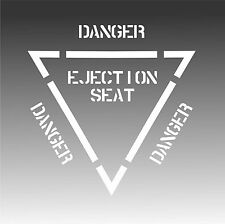 Ejection Seat Decal Authenic Aviation Aircraft Pilot Sticker C Small