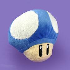 Nintendo New Super Mario Bros Blue Mini Mushroom Plush Doll Figure Stuffed Toy
