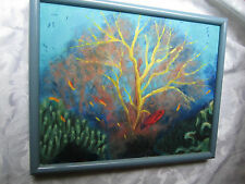 Original Painting Fish & Coral FAN CORAL Phoebe Skinner Washington, D.C. artist