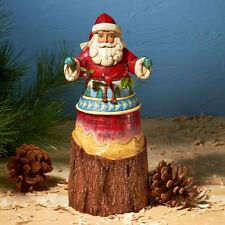 Jim Shore Christmas Lodge Santa w/Garland ~ Nature's Noel ~ 4024280