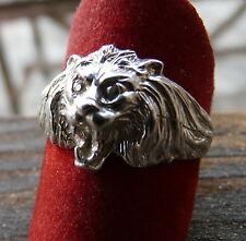 ANELLO TESTA di LEONE Argento  925* LION RING Sterling Silver