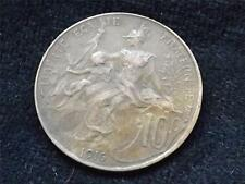 1916 FRANCE 10 CENTIMES COIN .