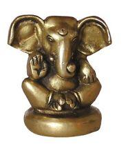 Ganesha sitzend, Satue, Figur, aus Messing, 6cm hoch